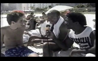 MCA of the Beastie Boys Photo Bombs a Russell Simmons Interview from 1985! EPIC!